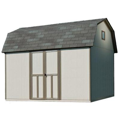 Briarwood 12 ft. x 8 ft. Wood Storage Shed with Floor Product Photo