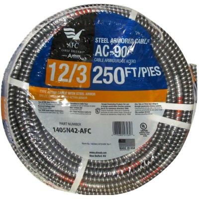 AFC Cable Systems 12/3 x 250 ft. BX/AC-90 Solid Cable