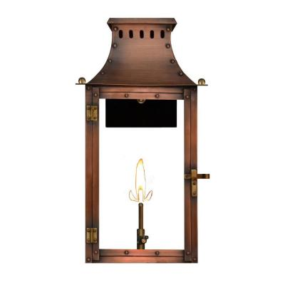 Filament Design Amelia 1-Burner 21 in. Copper Outdoor Natural Gas Wall Lantern