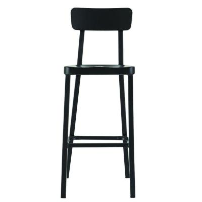 Jacob Stackable Aluminum Bar Stool in Black