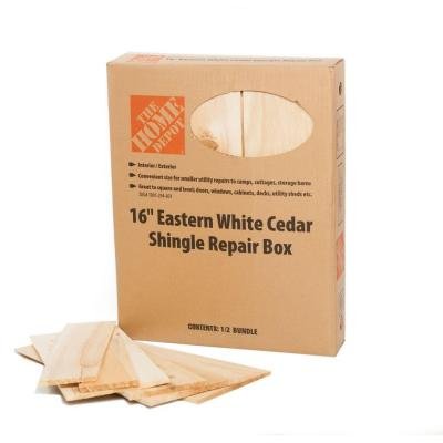 16 in. Eastern White Cedar Shingles Repair Kit (12 sq. ft./Bundle) Product Photo