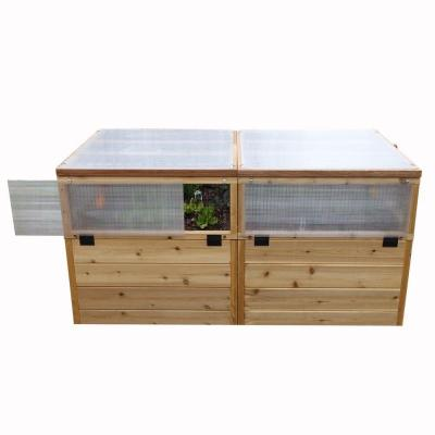 6 ft. x 3 ft. Raised Garden Bed with Greenhouse Kit