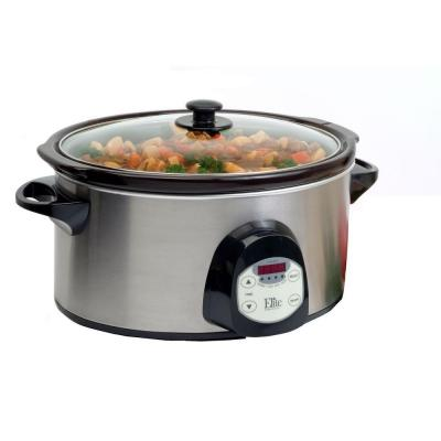 Elite 6 qt. Stainless Steel Digital Slow Cooker-DISCONTINUED