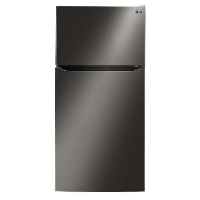 23.8 cu. ft. Built-in Top Freezer Refrigerator in Black Stainless Steel