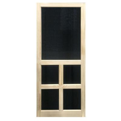 29.75 in. x 79.75 in. Victoria Stainable Screen Door Product Photo