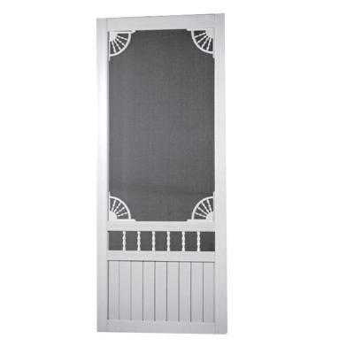 Laurel Bay Solid Vinyl White Screen Door