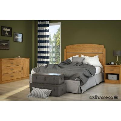Libra Full Headboard in Country Pine Product Photo