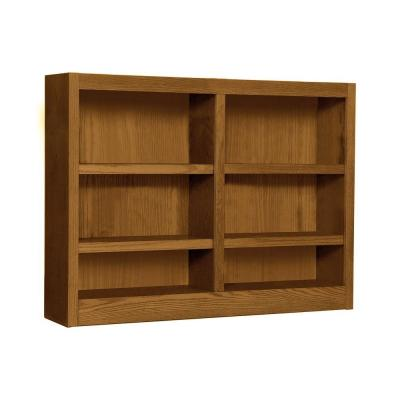 Midas Double Wide 6-Shelf Bookcase in Dry Oak Product Photo