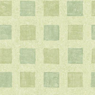 8 in. x 10 in. Green Pastel Contemporary Squares Wallpaper Sample Product Photo