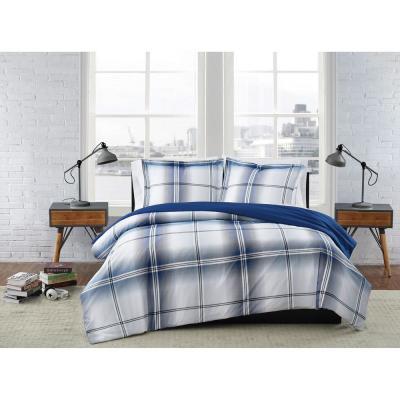 Nolan Houndstooth Stripe Comforter Set