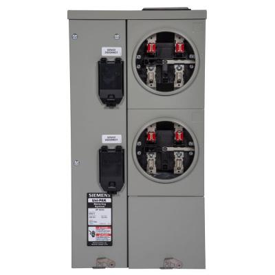 Uni-PAK 2-Gang 125 Amp Tenant Main Breaker Meter Socket Product Photo