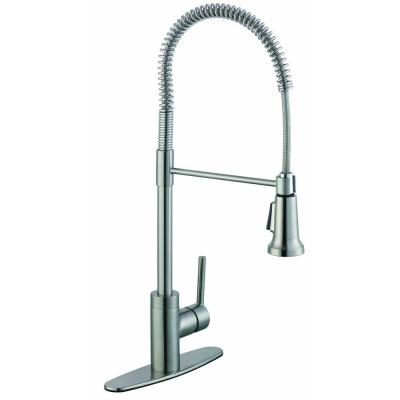 null 1,200 Series Single-Handle Pull-Down Sprayer Kitchen Faucet in Stainless Steel
