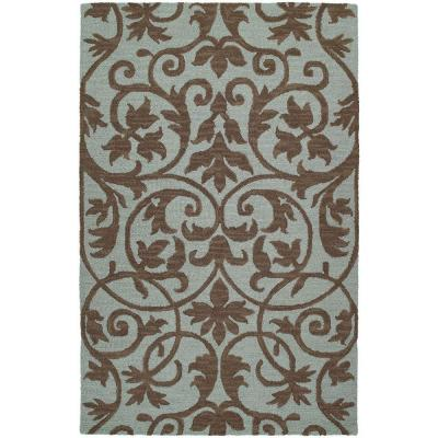 Kaleen Carriage Trellis Spa 5 ft. x 7 ft. 9 in. Area Rug
