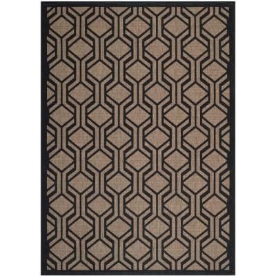 Courtyard Brown/Black 5 ft. 3 in. x 7 ft. 7 in.