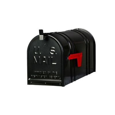 Carlton Post-Mount T2 Mailbox in Black Product Photo