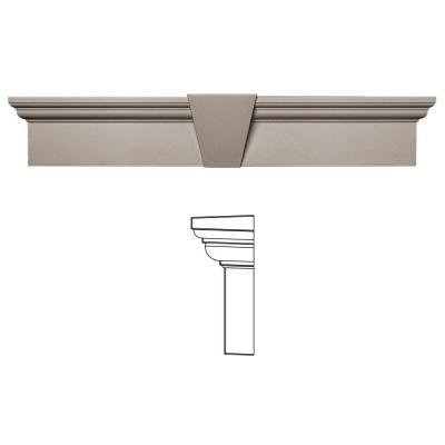 6 in. x 33-5/8 in. Flat Panel Window Header with Keystone in 008 Clay Product Photo