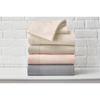 Jersey Knit Solid Cotton Blend Sheet Set