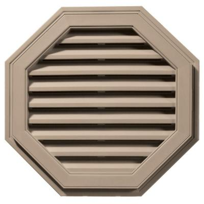 27 in. Octagon Gable Vent in Wicker Product Photo