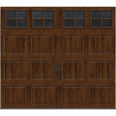 Clopay Gallery Collection 8 ft. x 7 ft. 18.4 R-Value Intellicore Insulated Ultra-Grain Walnut Garage Door with SQ22 Window
