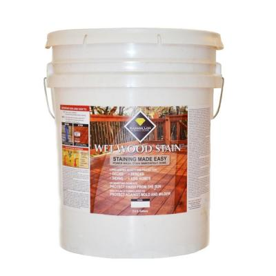 Wet Wood Stain 5 gal. Clear Semi-Transparent Exterior Stain