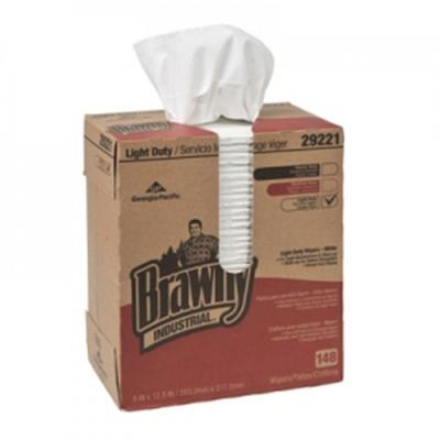 Brawny Industrial Light-Duty Paper Wipers Two-Ply (148-Box)