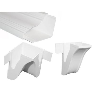 Greenwich 8 ft. x 4-5/8 in. x 1/8 in. PVC Room-in-a-Box Crown Molding/Wire Raceway Product Photo