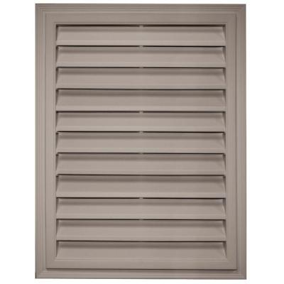 18 in. x 24 in. Rectangle Gable Vent in Clay Product Photo