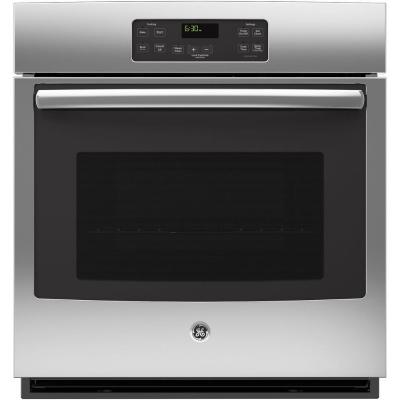 GE 28 in. Single Electric Wall Oven Standard Cleaning with Steam in Stainless Steel