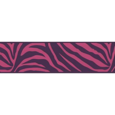 6.8 in. W x 10 in. H Zebra Crossing Pink Zebra