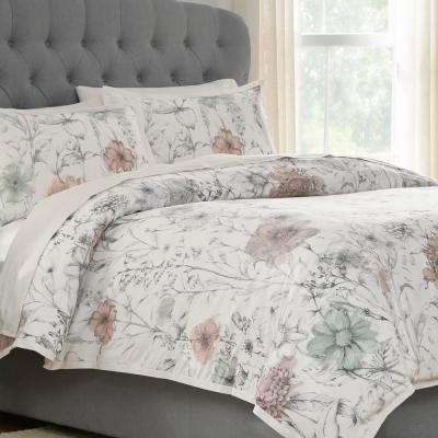 Sidney 3-Piece Clotilde Duvet Cover Set
