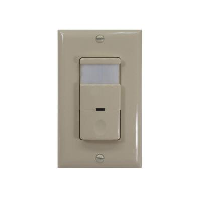 120 - 277 Volt Occupancy/Vacancy Passive Infrared Motion Sensor Wall Switch Product Photo
