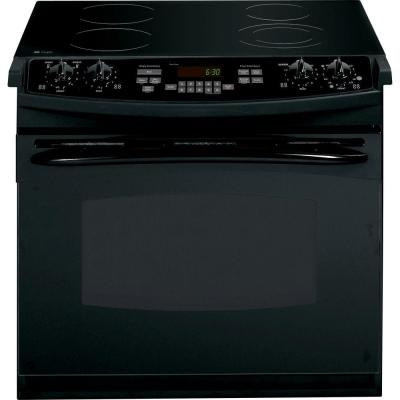 GE Profile 4.4 cu. ft. Drop-In Electric Range with Self-Cleaning Oven in Black