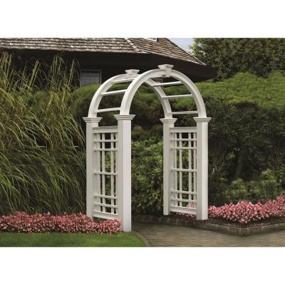 97.5 in. x 60 in. Vinyl Westchester Arbor Product Photo