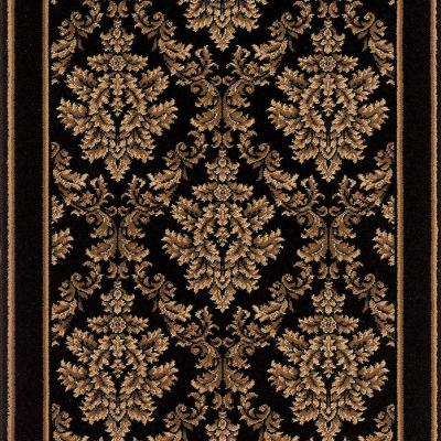 Kurdamir Damask Black 33 in. x Your Choice Length Roll Runner Product Photo