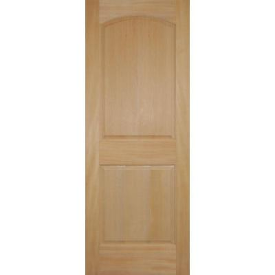 2 panel arch top stain grade wood fir interior door slab Home depot interior doors wood