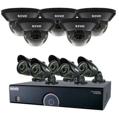 Revo 16-Channel 2TB 960H DVR Surveillance System with (10) 700 TVL 100 ft. Night Vision Cameras