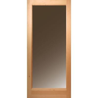 Masonite 36 in x 80 in full lite unfinished fir front for Full view exterior door