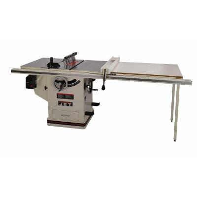 JET 5 HP 10 in. Deluxe XACTA SAW Table Saw with 50 in. Fence, Cast Iron Wings and Riving Knife, 230-Volt