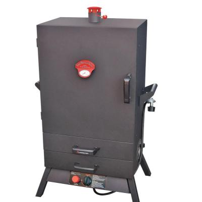 Smoky Mountain 38 in. Vertical Wide Chamber Propane Gas Smoker with Two Drawer Access