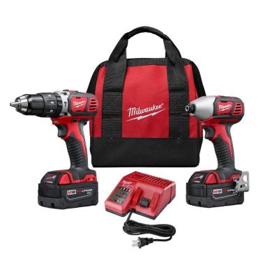 Milwaukee M18 18-Volt Lithium-Ion Cordless Hammer Drill/Impact Driver XC Combo Kit (2-Tool)
