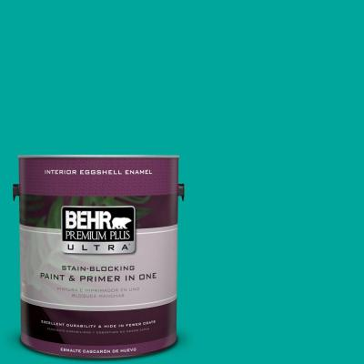 BEHR Premium Plus Ultra Home Decorators Collection 1-gal. #HDC-MD-22 Tropical Sea Eggshell Enamel Interior Paint