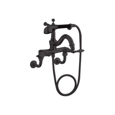 KOHLER Finial Lever 2-Handle Claw Foot Tub Faucet with Handshower in Oil-Rubbed Bronze