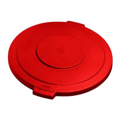 Bronco 32 Gal. Red Round Trash Can Lid (4-Pack)