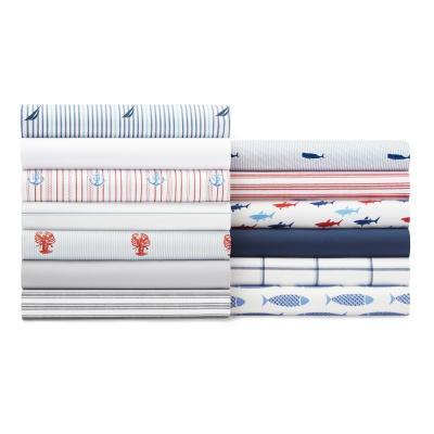 Printed Coastal 200-Thread Count Cotton Sheet Set