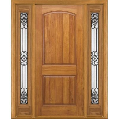 Masonite AvantGuard Sierra 2-Panel Finished Smooth Fiberglass Prehung Front Door with No Brickmold and Sidelites-DISCONTINUED