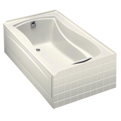 KOHLER Mariposa 5 ft. Left-Hand Drain Acrylic Soaking Tub in Biscuit