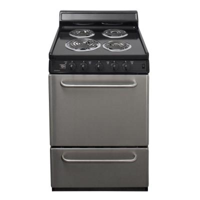 Premier 24 in. 2.97 cu. ft. Electric Range in Stainless Steel