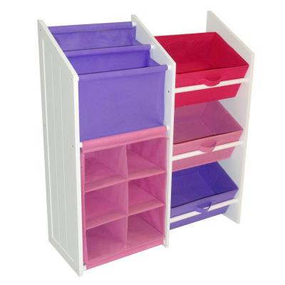 30 in. x 34 in. Pastel Super Storage with 3-Bins and