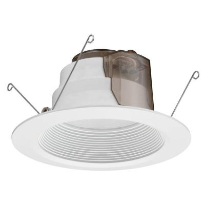 Lithonia Lighting 6 in. High Ceiling White Recessed LED Baffle Downlight