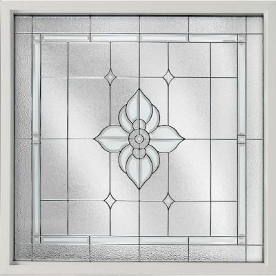 Hy-Lite 47.5 in. x 47.5 in. Decorative Glass Fixed Vinyl Window - White